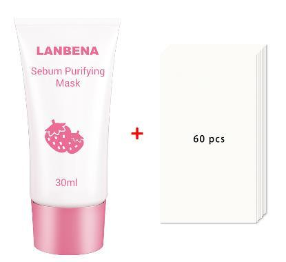 Lanbena Strawberry Mask Face Care Deep Cleansing Purifying Blackhead Peeling Remover Acne Nose Oil Control T Zone Care Mask