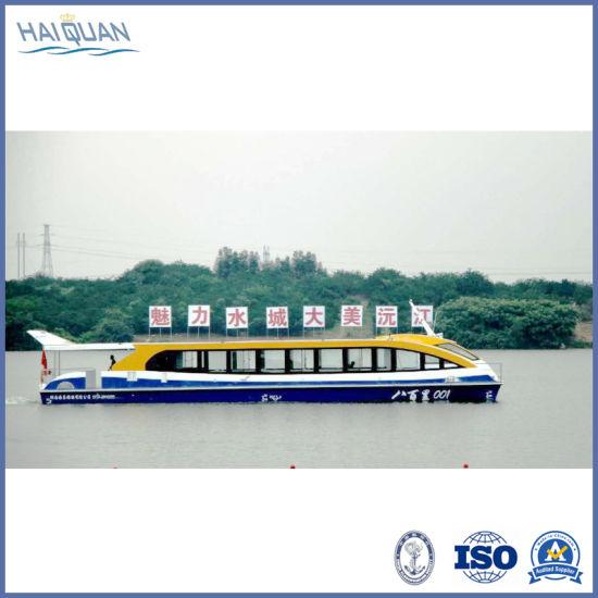60-99 Seats Pure Electric Boat Aluminium Boat Catamaran for Sightseeing/Transportation