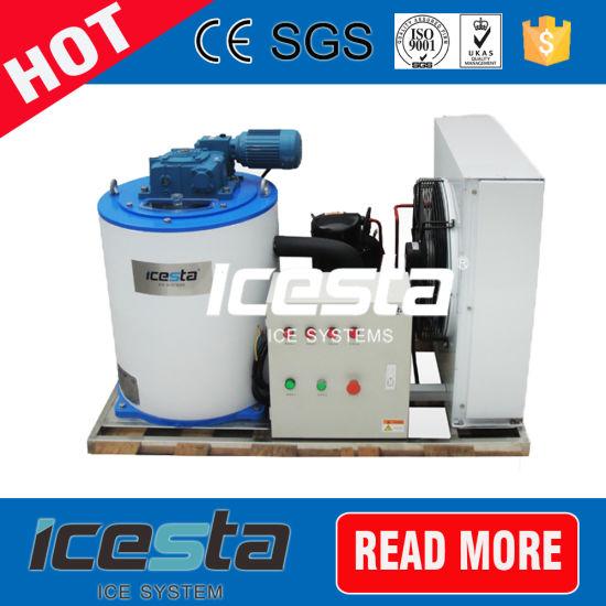 2000kg/24h Flake Ice Machine for Long Range Fishing / Meat Processing