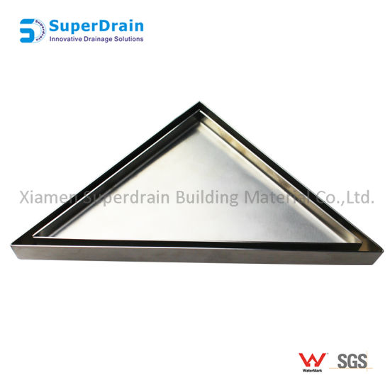 China Triangle Tile Insert Stainless Steel Corner Floor Drain For Bathroom China Floor Waste Shower Drain