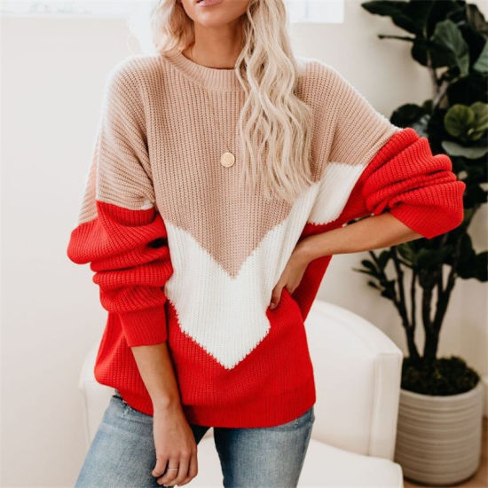 Loose Knitted Sweater Women Jumpers Long Sleeve O-Neck Woman Pullovers Sweater