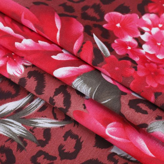 Classic Design Flower Dispersed Printed Polyester Brushed Fabric for Bedding Sheet