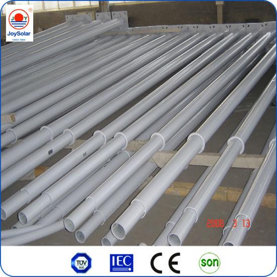 Solar Street Light Pole Light / Hot Galvanized&Spraying Steel Pole Price