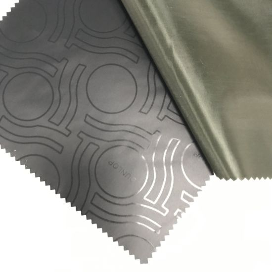 170t Polyester Taffeta Peacock Black Silver Coated for Car Cover