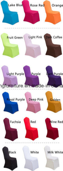 Hotel Foshan Colorful Wedding Chair Cover pictures & photos