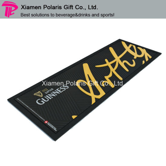 Printed Rubber Bar Table Menu Mat with No Skid Base pictures & photos