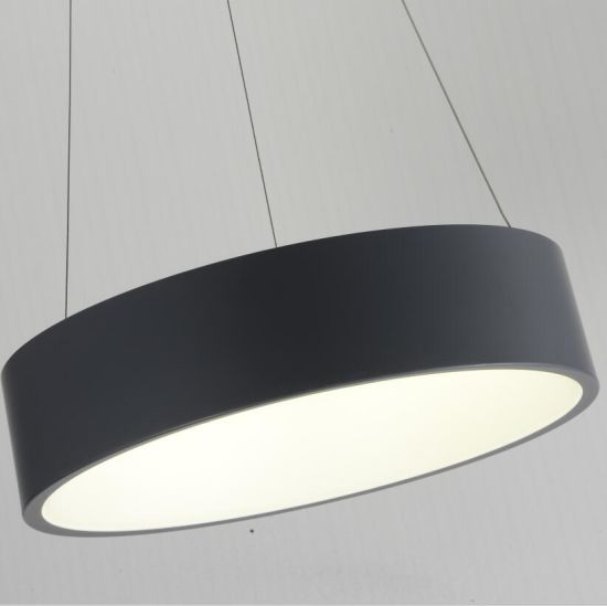 LED Matt Black Acrylic Round Pendant Lamp for Hotel Project pictures & photos