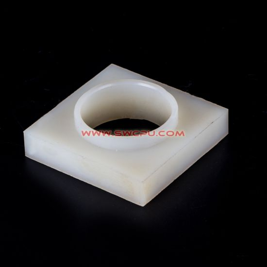 CNC Turning / Machining Square Shape Nylon Plastic Bushing with Female Head