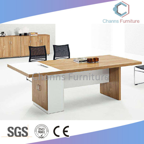 China Popular Black Round Wooden Computer Office Desk Meeting Table - Black round office table