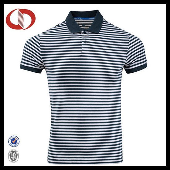 OEM Latest New Style Striped Man Polo Shirt pictures & photos
