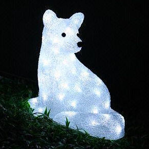 outdoor christmas holiday decoration led solar squirrel motif lights