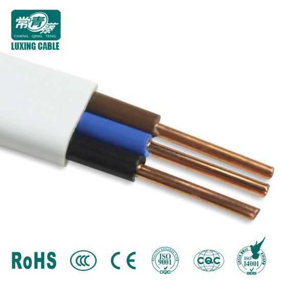 China PVC Twin and Earth 2.5mm Strands Copper Electric Wire 220V 3 ...