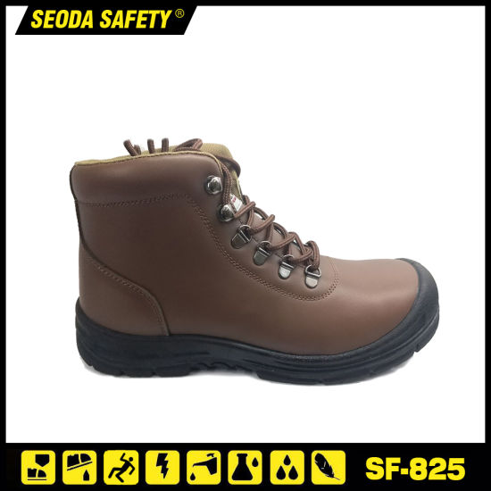 39065aaee91 China Brown ESD Safety Work Boots with Steel Toe PU Sole - China ...