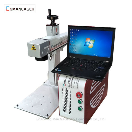 China Tabletop 20W Laser Marking Machine with Raycus Sources