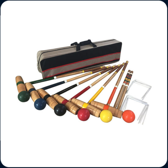 6 Players Wooden Croquet Set pictures & photos