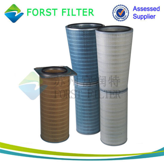 Spider-Web Cylindrical and Conical Gas Turbine Air Filter Cartridge pictures & photos