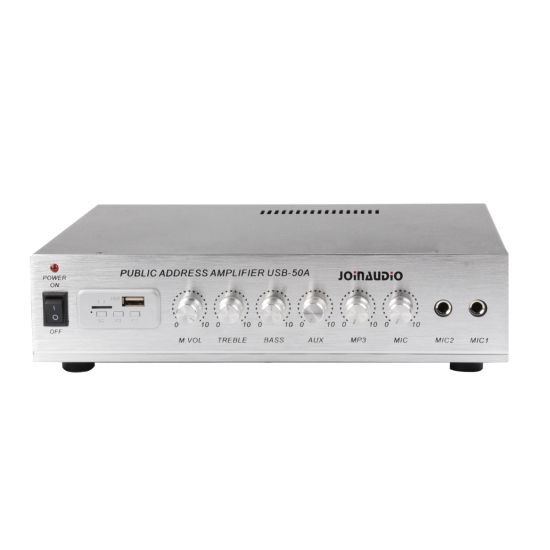 100V Mini Amplifier with USB Suit for Classroom (USB-50A)
