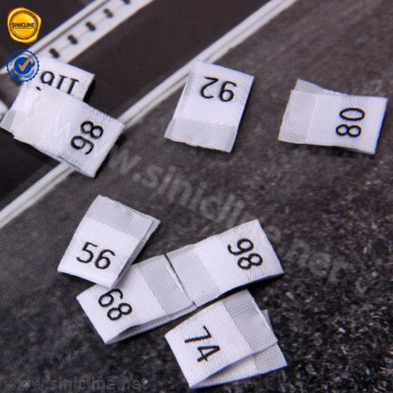 Sinicline Custom High Quality Center Folded Woven Clothing Size Label