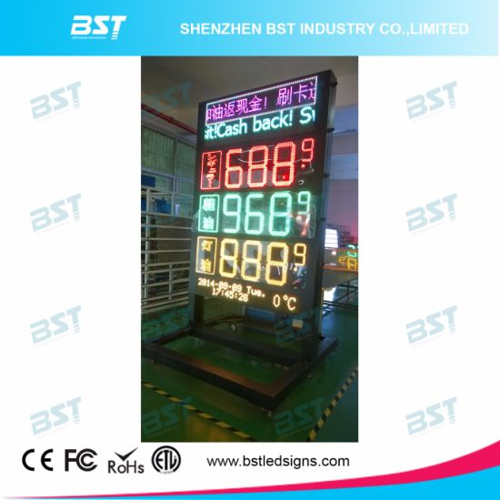 Outdoor LED Gas Price Sign with LED Moving Sign pictures & photos