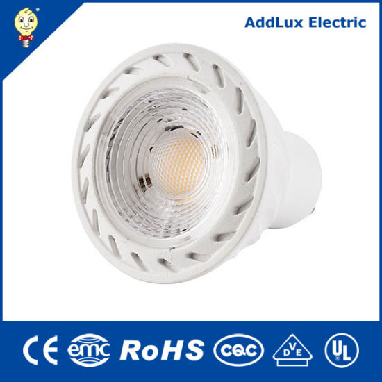 Ce UL Saso 220V 4W COB GU10 Cool White Dimmable LED Spotlight Bulb Made in China for Home & Business Indoor Lighting From Best Supplier Factory