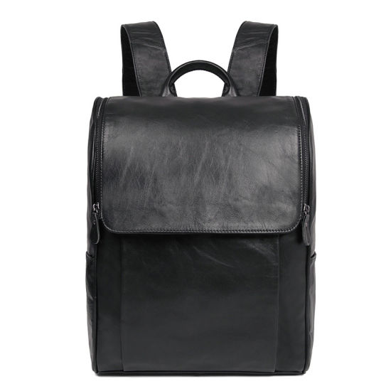 China Manufacturer Cheap Price Good Quality Genuine Leather Laptop Backpack for School pictures & photos