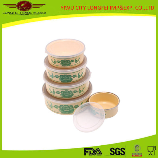 Hot Sale 5sets Ice Bowl with Plastic Lid pictures & photos