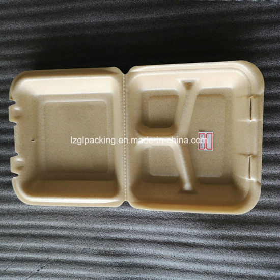 Biodegradable Foam Packing Corn Starch Lunch to Go Container