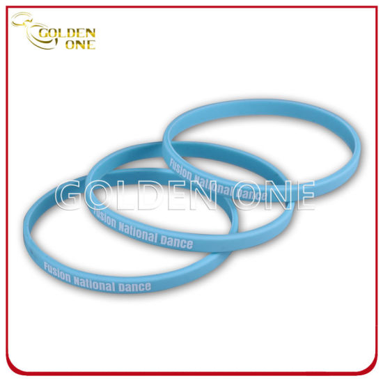 Factory Supply 1/4 Inch Blank Printed Color Silicone Bracelet pictures & photos