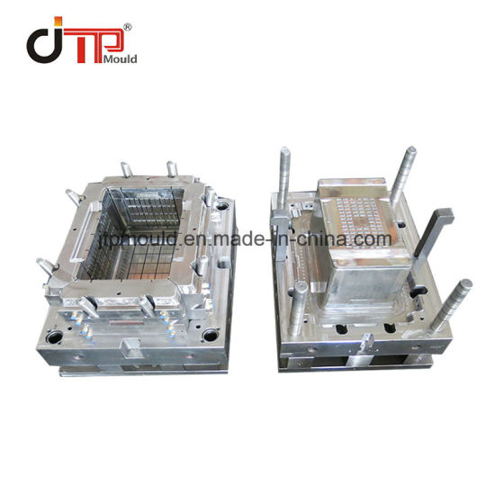 Customized Big Capacity Vegetable Plastic Crate Box Injection Mould