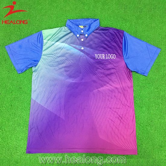 Healong Colorful Sports Clothing Gear Sublimation Men′s Polo Shirts for Sale pictures & photos