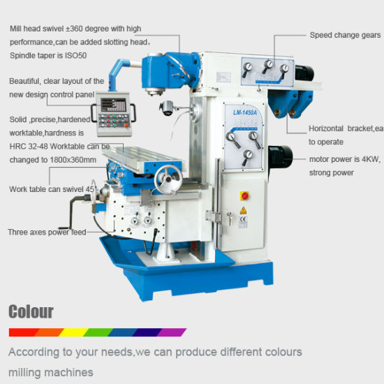 Universal Milling Machine with Ce Standard (LM-1450A) pictures & photos
