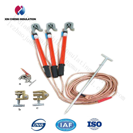 High Voltage Ground Rod with Earth Wire and Clamp pictures & photos