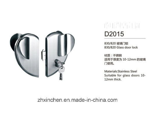 Xc-D2015 High Quality Furniture Hardware Glass Door Lock pictures & photos