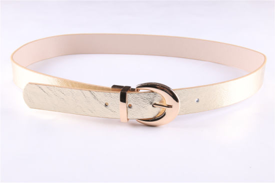 PU Belt for Women with Reversible Buckle--Jbe1623