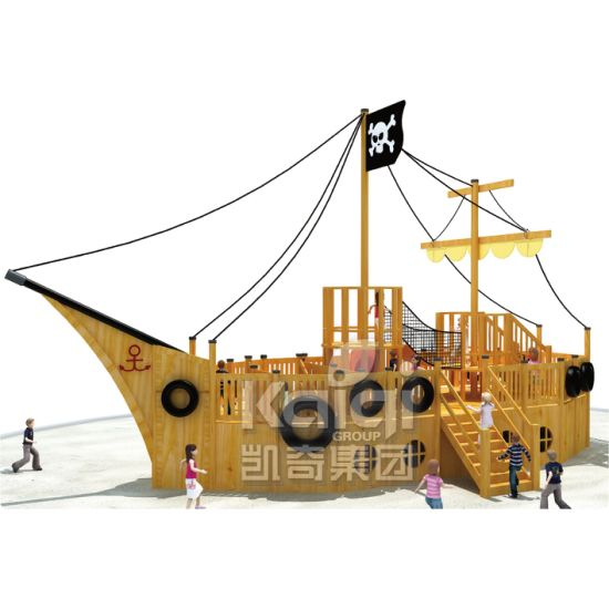 Large Size Outdoor Playground Wooden Series for Kids (KQ60081A) pictures & photos