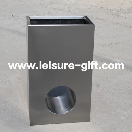 Fo-9017 Stainless Steel Rectangular with Hole Plant Pot pictures & photos