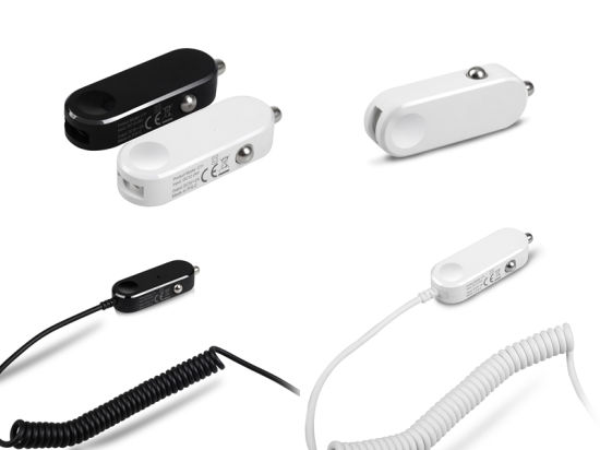 5V 2.4A USB Mini Car Charger Ce/RoHS/FCC for iPhone Samsung