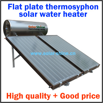 Solar Water Heater with Flat Plate Collector Panel and Pressurized Tank for House 150-320 Litres