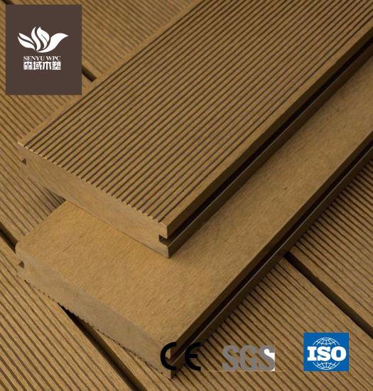 Solid Outdoor Waterproof WPC Wood Plastic Flooring Board