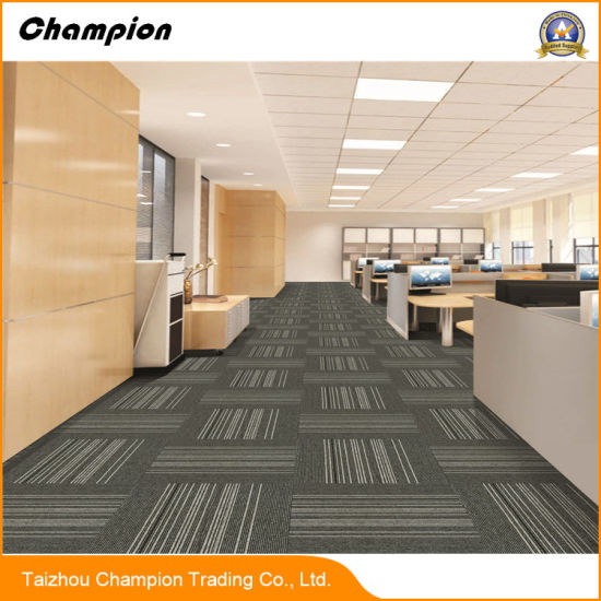 Dx Dm Commercial Carpet Tile For Office, Skid Resistance Home Carpet Tile;  Office Floor Tiles Design Carpet Tiles With PVC/Bitumen Backing