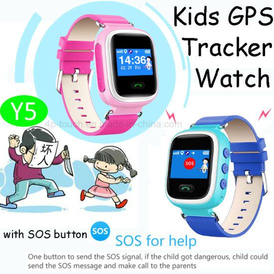 1.0′′ Colorful Kids GPS Tracker Smart Watch with Multi-Languages (Y5) pictures & photos