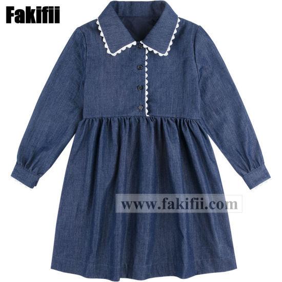 Baby Apparel Fashion Girl Party Dress Children Wears Wholesale Kids Clothes School Uniform Woven Garment