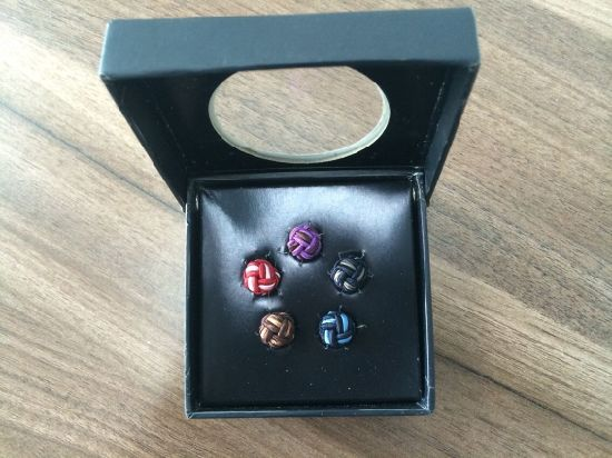 Fashion Garment Polyester Cufflink