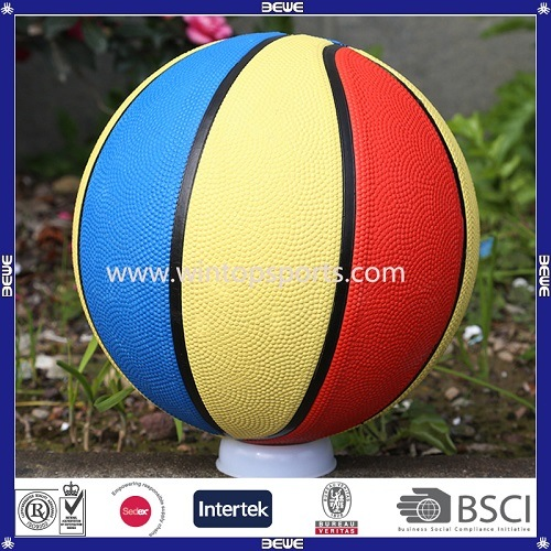 Multi-Color or Printing Rubber Promotion Basketball Balls pictures & photos