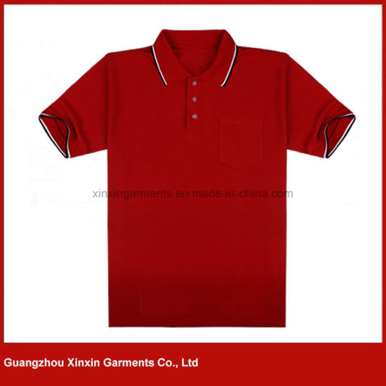 Custom Made Men's High Quality Cotton Red Polo T Shirts (P171)