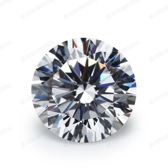 5mm Blue CZ Gems Brilliant Cut Round 8 Hearts & 8 Arrows 57 Facets Cubic  Zirconia Birthstones