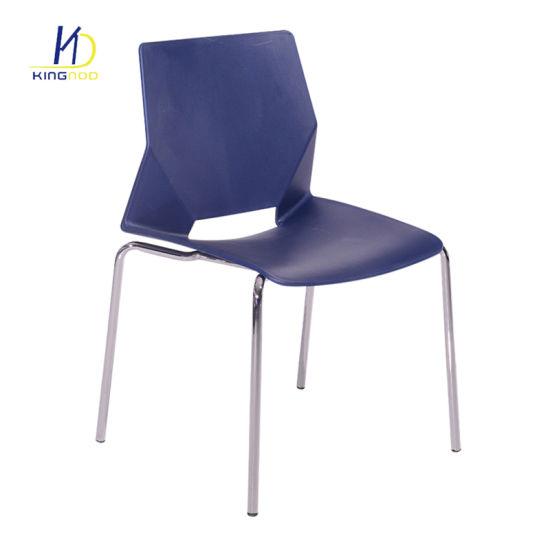 National Italian Design Outdoor Armless Metal Leg Stackable Plastic Chair