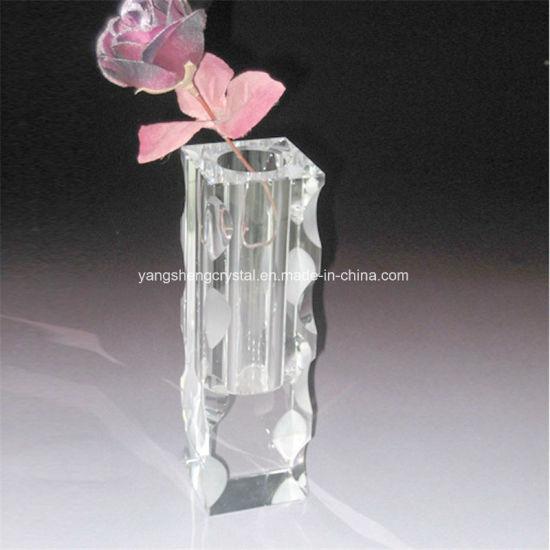 China High Quality Beautiful Crystal Vase Glass Vase China Crystal