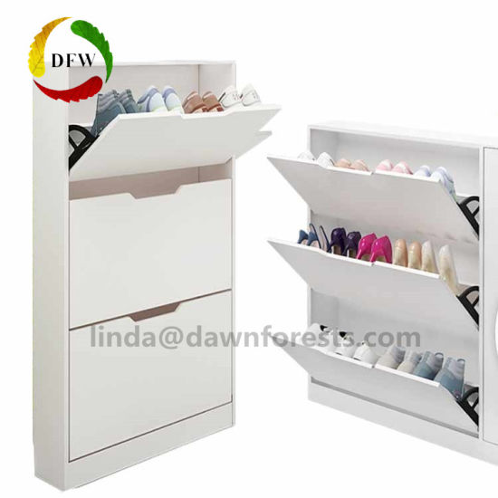 Storage Lobby Cabinet 3 Layers Wooden Famous Shoe Rack