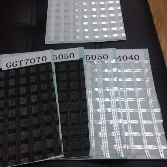 Geocomposite Biaxial Fiberglass Geogrid Composite Geotextile pictures & photos